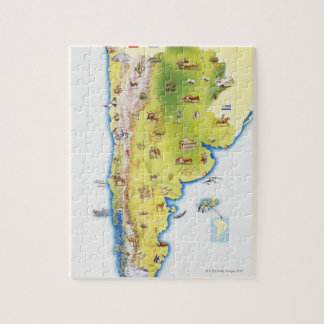 Map of South America Jigsaw Puzzles