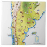 Map of South America Tiles