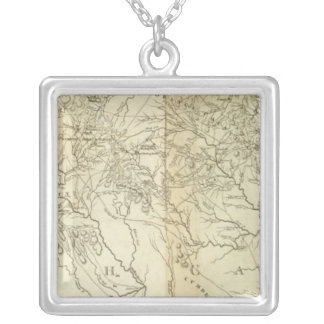 Map Of  South and North Carolina Necklaces