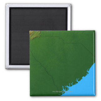 Map of South Carolina 2 2 Inch Square Magnet