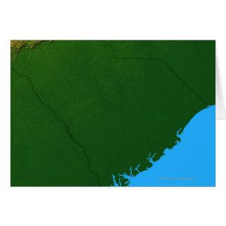 Map of South Carolina 2 Card