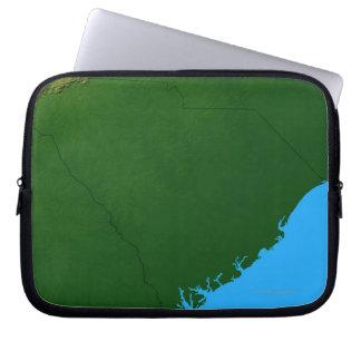 Map of South Carolina 2 Laptop Sleeves