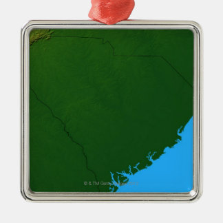 Map of South Carolina 2 Metal Ornament