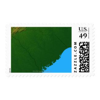 Map of South Carolina 2 Postage Stamp
