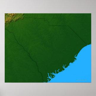 Map of South Carolina 2 Poster