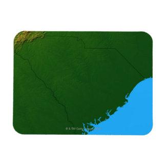 Map of South Carolina 2 Rectangular Photo Magnet