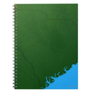 Map of South Carolina 2 Spiral Notebook
