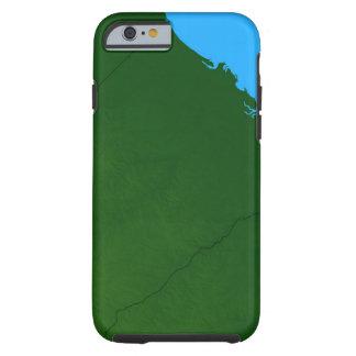 Map of South Carolina 2 Tough iPhone 6 Case