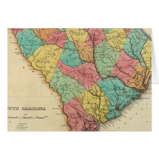 Map Of South Carolina Card