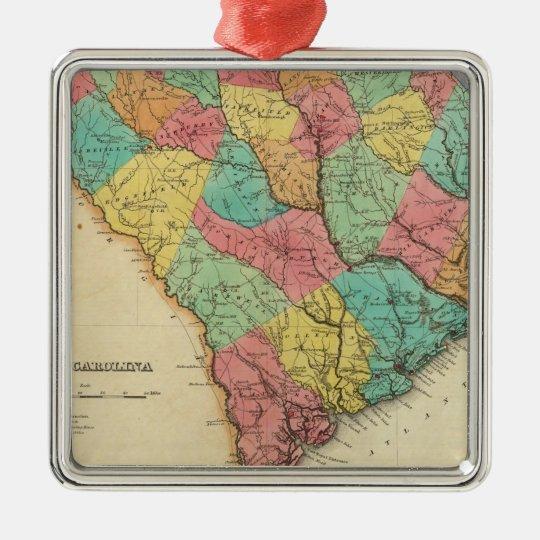 Map Of South Carolina Metal Ornament