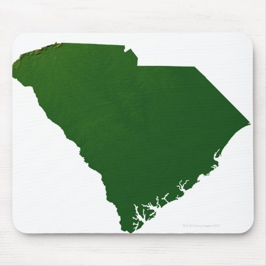Map of South Carolina Mouse Pad