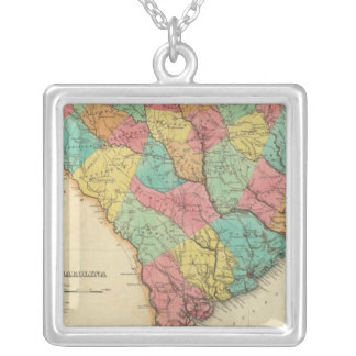 Map Of South Carolina Personalized Necklace
