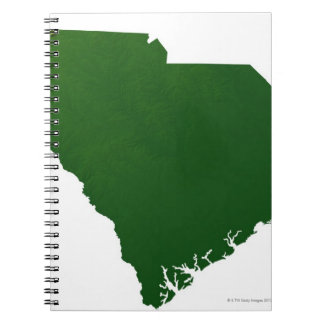 Map of South Carolina Notebook