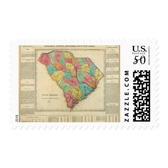 Map Of South Carolina Postage