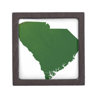 Map of South Carolina Premium Trinket Box
