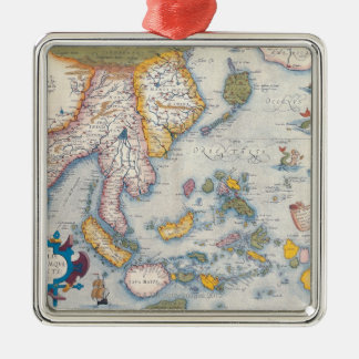 Map of South East Asia 2 Metal Ornament