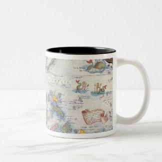 Map of South East Asia 2 Two-Tone Coffee Mug