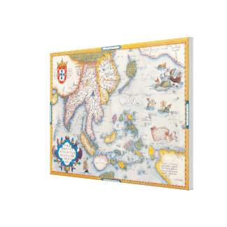 Map of South East Asia Canvas Print