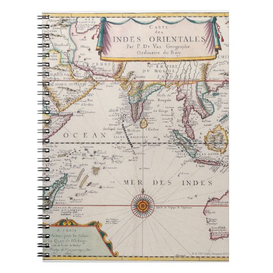 Map of South East Asia Notebook