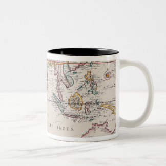 Map of South East Asia Two-Tone Coffee Mug