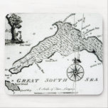 Map of South Pacific Island, 1800 Mouse Pad