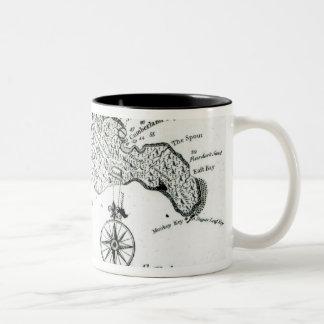 Map of South Pacific Island, 1800 Two-Tone Coffee Mug
