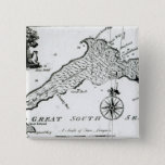 Map of South Pacific Island, 1800 Pinback Button