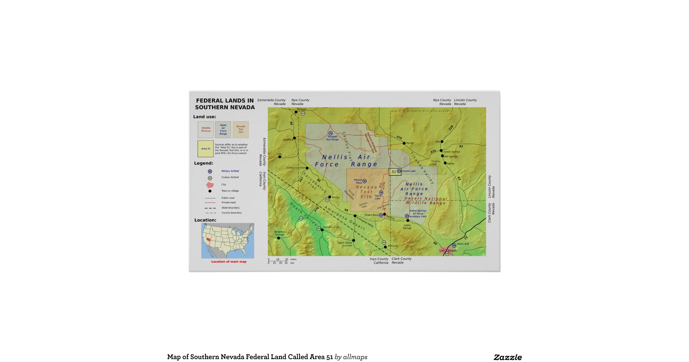 Map_of_southern_nevada_federal_land_called_area_51_poster