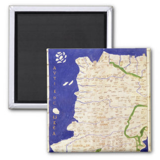 Map of Spain and Portugal, from 'Geographia' 2 Inch Square Magnet