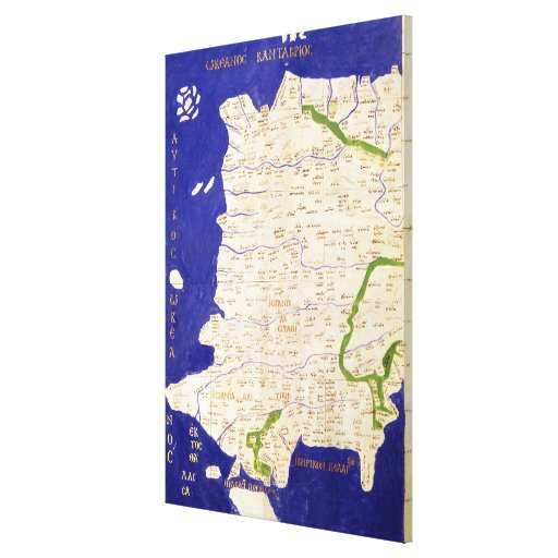 Map of Spain and Portugal, from 'Geographia' Canvas Print