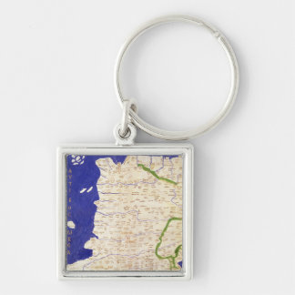 Map of Spain and Portugal, from 'Geographia' Key Chain