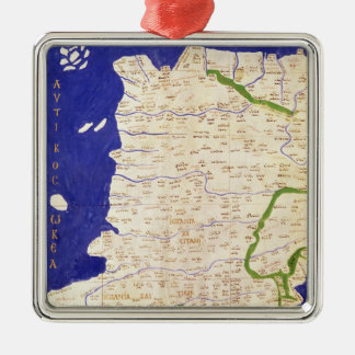 Map of Spain and Portugal, from 'Geographia' Metal Ornament