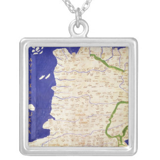 Map of Spain and Portugal, from 'Geographia' Custom Necklace