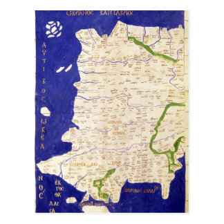 Map of Spain and Portugal, from 'Geographia' Postcard