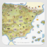 Map of Spain and Portugal Sticker