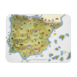 Map of Spain and Portugal Vinyl Magnet
