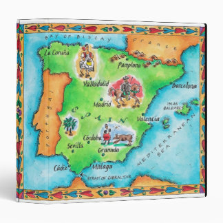 Map of Spain Binder
