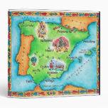 Map of Spain Binders