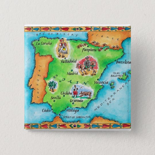 Map of Spain Button