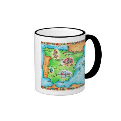 Map of Spain Coffee Mug
