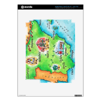 Map of Spain iPad 3 Decal