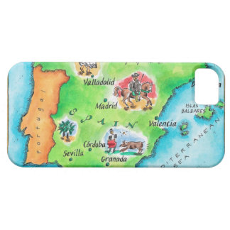 Map of Spain iPhone SE/5/5s Case