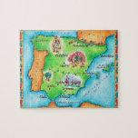 "Map of Spain Jigsaw Puzzle<br><div class=""desc"">Asset ID: wov033 / Jennifer Thermes / Map of Spain</div>"