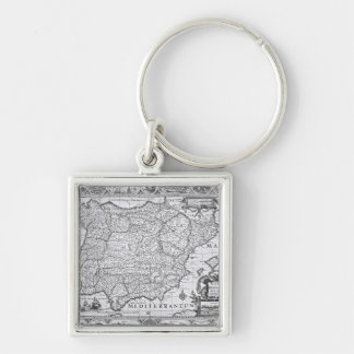 Map of Spain Keychain