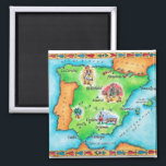 """Map of Spain Magnet<br><div class=""""desc"""">Asset ID: wov033 / Jennifer Thermes / Map of Spain New Spain , formally called the Viceroyalty of New Spain (Spanish : Virreinato de Nueva Espa&#241;a ), was a viceroyalty of the Spanish colonial empire , comprising primarily territories in what was known then as &#39;Am&#233;rica Septentrional&#39; or North America ....</div>"""