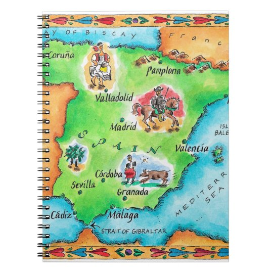 Map of Spain Notebook