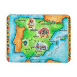 Map of Spain Rectangular Photo Magnet