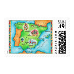 Map of Spain Stamp