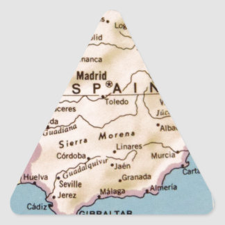 Map of Spain Vintage Design Triangle Sticker