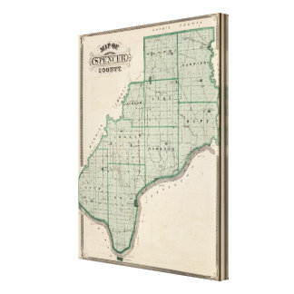 Map of Spencer County Canvas Print